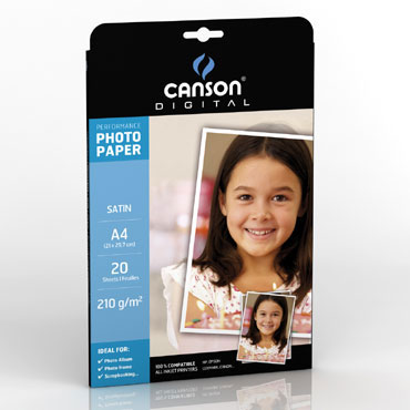20HJ papel Satin Performance 210 g/m² Din A-4 Canson