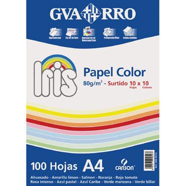 100HJ papel Iris de colores surtidos 80 g/m² A-4 Canson 200404616