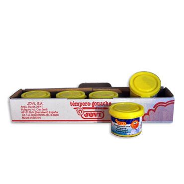 5 botes témpera diluible limón 35 ml. Jovi 50302