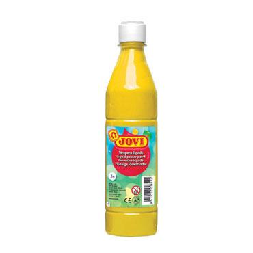 Botella témpera líquida amarilla 500 ml.  Jovi 50602