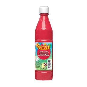 Botella témpera líquida bermellón 500 ml.  Jovi 50607