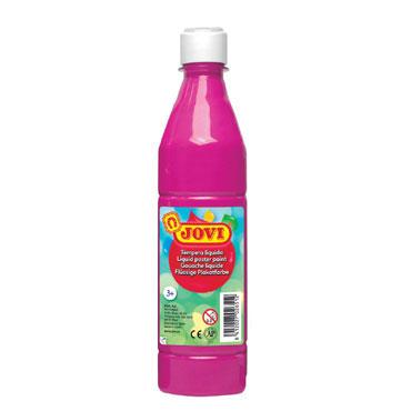 Botella témpera líquida magenta 500 ml.  Jovi 50608