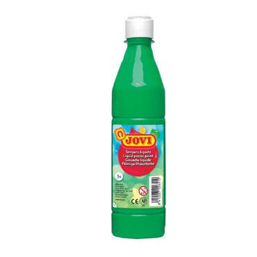 Botella témpera líquida verde medio 500 ml.  Jovi 50617