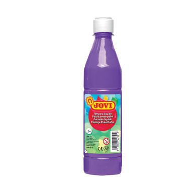Botella témpera líquida violeta 500 ml.  Jovi 50623