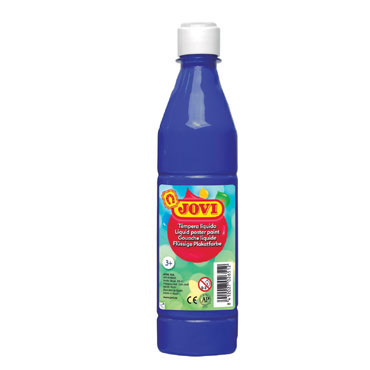 Botella témpera líquida azul ultra 500 ml.  Jovi 50624