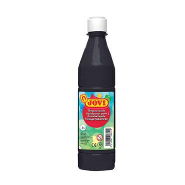 Botella témpera líquida negra 500 ml.  Jovi 50630