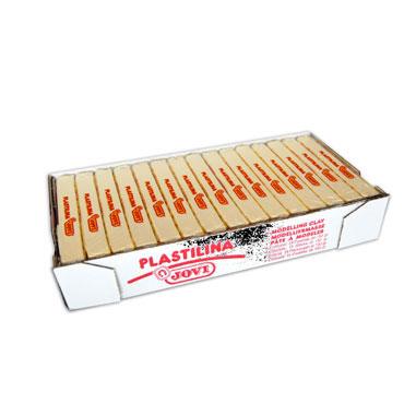 15 pastillas plastilina 150 g. blanca Jovi 7101