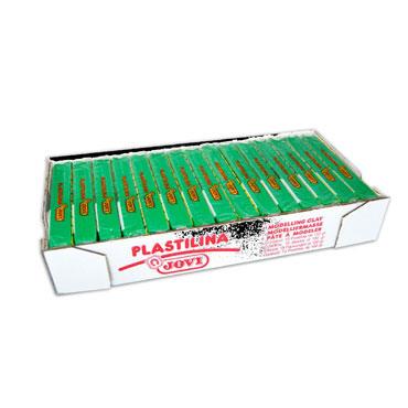 15 pastillas plastilina 150 g. verde claro Jovi 7110
