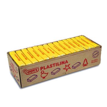 15 pastillas plastilina 350 g. amarillo oscuro Jovi 7203