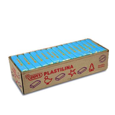 15 pastillas plastilina 350 g. azul claro Jovi 7212