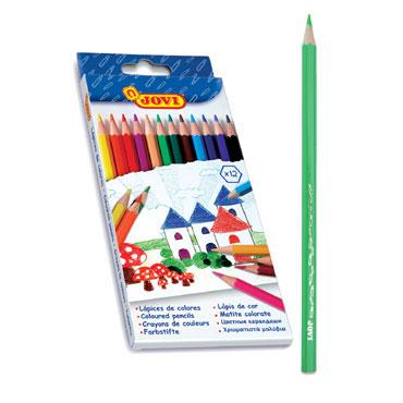 12 lápices color hexagonales Jovi 730/12