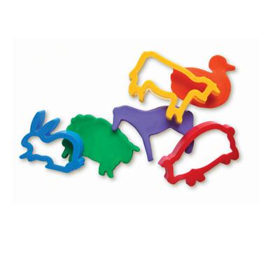 6 moldes para modelar animales granja Jovi 7G