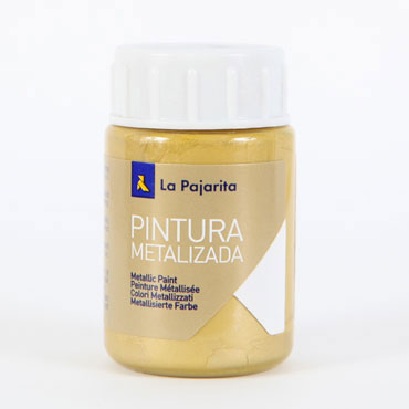 Bote 35 ml. pintura metalizada oro La Pajarita 125322