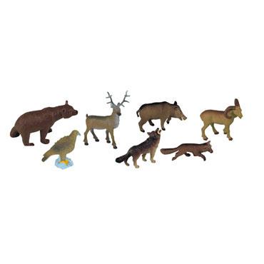 8 figuras de Animales Bosque Miniland 25126