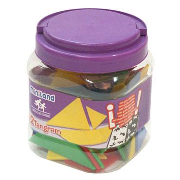 12 Juegos Tangram Miniland 31727