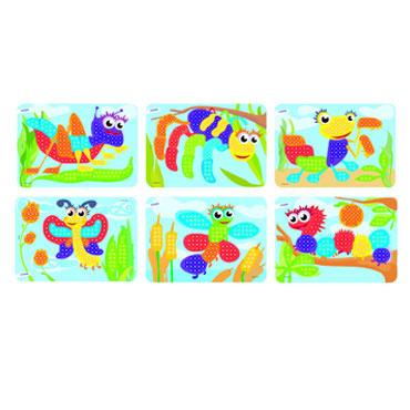 6 láminas bichos para pinchos Miniland 31862