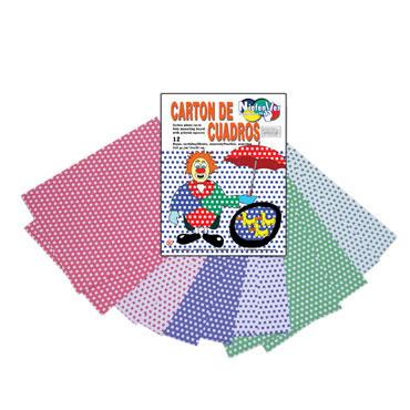 12 cartulinas cuadros 24x32 cm. Niefenver 0700125