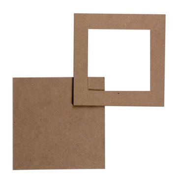 5 marcos cuadrados 18x18 cm. Niefenver 0700142