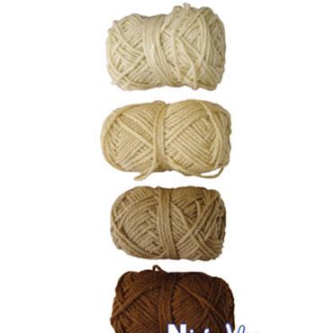 4 ovillos lana tonos marrones Niefenver 1100101