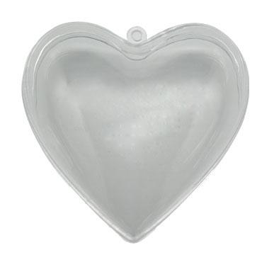 10 corazones de plástico cristal 60 mm. Niefenver 1300152