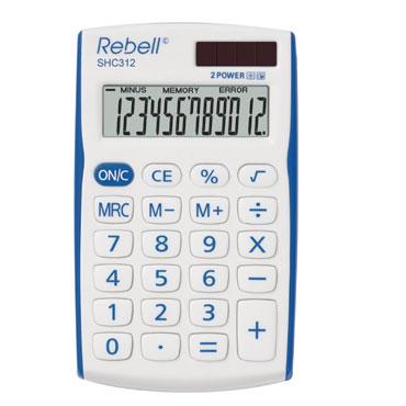 Calculadora bolsillo 312BL 12 dígitos Rebell SCH312BL