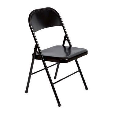 2 sillas colectividad plegables 921V15 negras Rocada