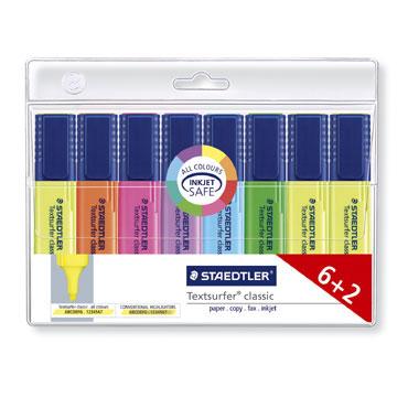 8 marcadores fluorescentes Staedtler 364WP8