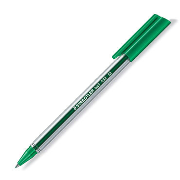 Bolígrafo Ball 432 verde Staedtler 432M-5