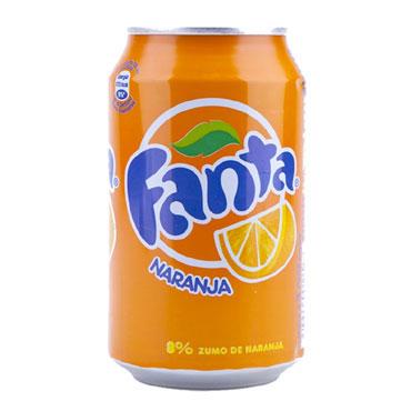Pack 24 Fanta naranja 33 cl.  FANTAN