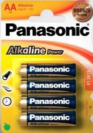 4 pilas alcalinas LR6/AA Panasonic
