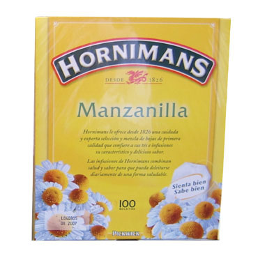 100 bolsas manzanilla