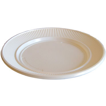 100 platos plástico ø22 cm.  PLATOG