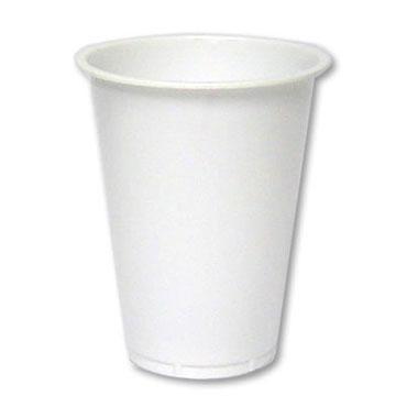 100 vasos plástico 0,2 l. blancos