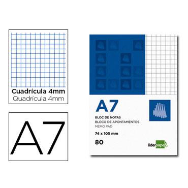 Bloc notas Din A-7 c/4 Liderpapel