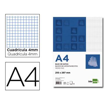 Bloc notas Din A-4 c/4 Liderpapel