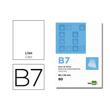 Bloc notas Din B-7 liso Liderpapel