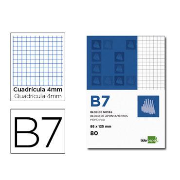 Bloc notas Din B-7 c/4 Liderpapel
