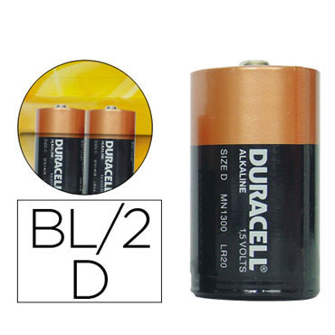 BL2 pilas alcalinas Duracell Plus Power D