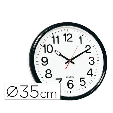 Reloj pared 35 cm.  Q-Connect 22369