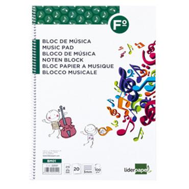 Bloc de música Folio 20HJ Liderpapel 22551