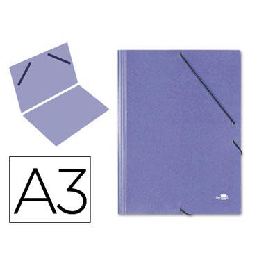 Carpeta gomas Din A-3 azul Liderpapel 27151