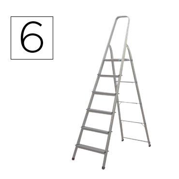 Escalera aluminio 6 peldaños Q-Connect 31969