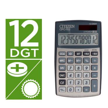 Calculadora CPC-112 plata Citizen 33082