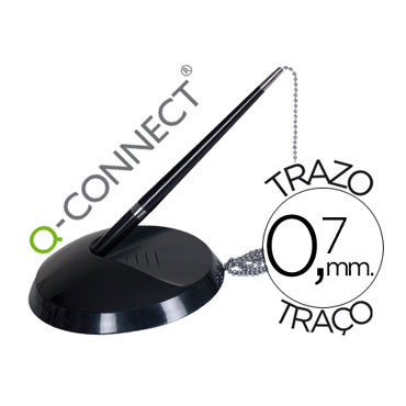 Bolígrafo con peana Q-Connect 35088