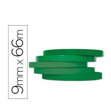 Cinta precintadora verde 66 m. x 9 mm. Q-Connect 46516