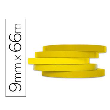 Cinta precintadora amarilla 66 m. x 9 mm. Q-Connect 46666