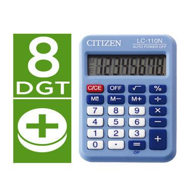 Calculadora LC-110N azul Citizen 51882