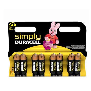 BL8 pilas alcalinas Duracell Simply LR6/AA 59550
