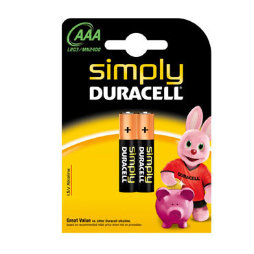 BL2 pilas alcalinas Duracell Simply LR03/AAA