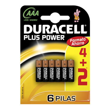BL4+2  pilas alcalinas Duracell Plus Power LR03/AAA